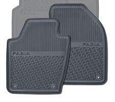 Original Skoda Fabia 3 6V Gummimatten Gummifußmatten vorn schwarz 6V1061551