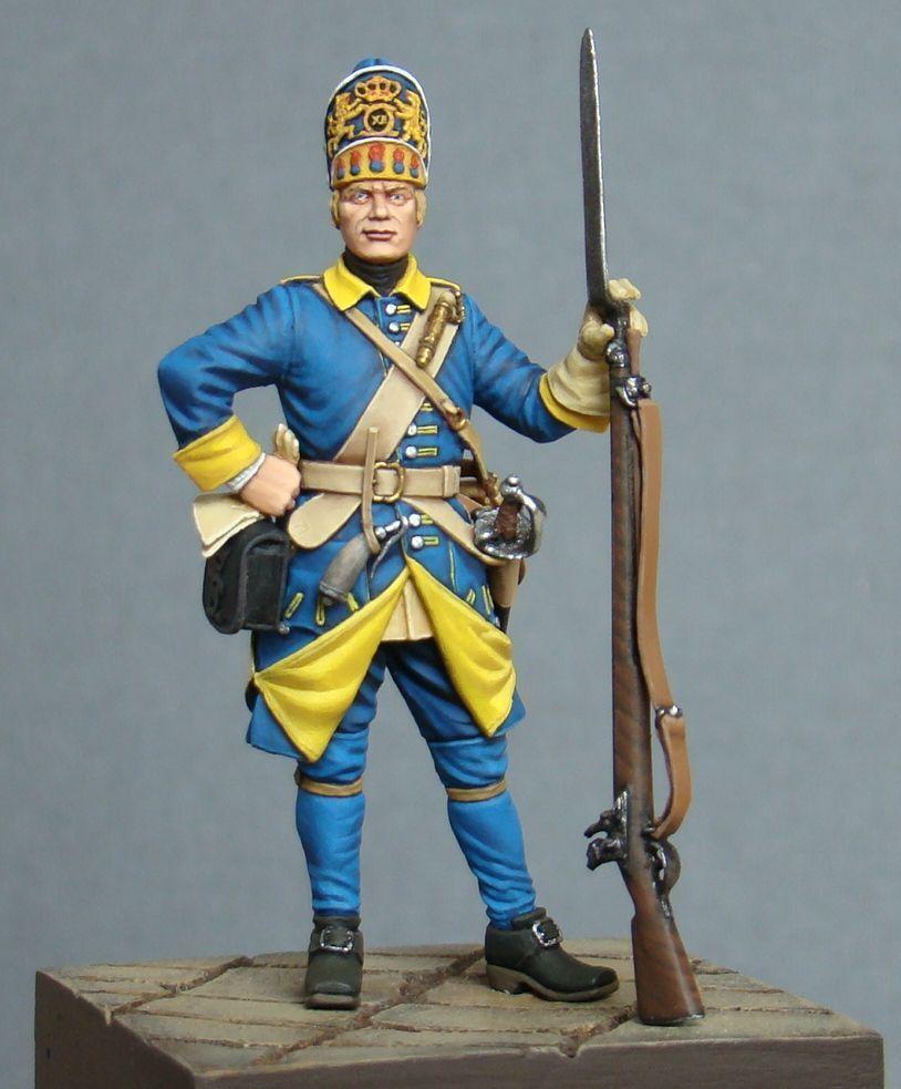 Granadero sueco de Mellin Jäg Pintado soldado de juguete de estaño Pre-orden   Arte