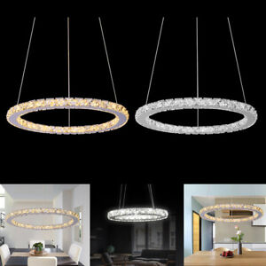 Ring crystal led pendant light ceiling lamp galaxy chandelier image is loading ring crystal led pendant light ceiling lamp galaxy mozeypictures Image collections