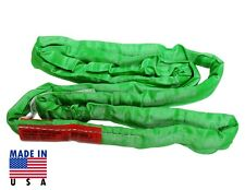 Poly 8 Ft Green Endless Round Sling Lifting Crane Rigging Recovery Usa Made