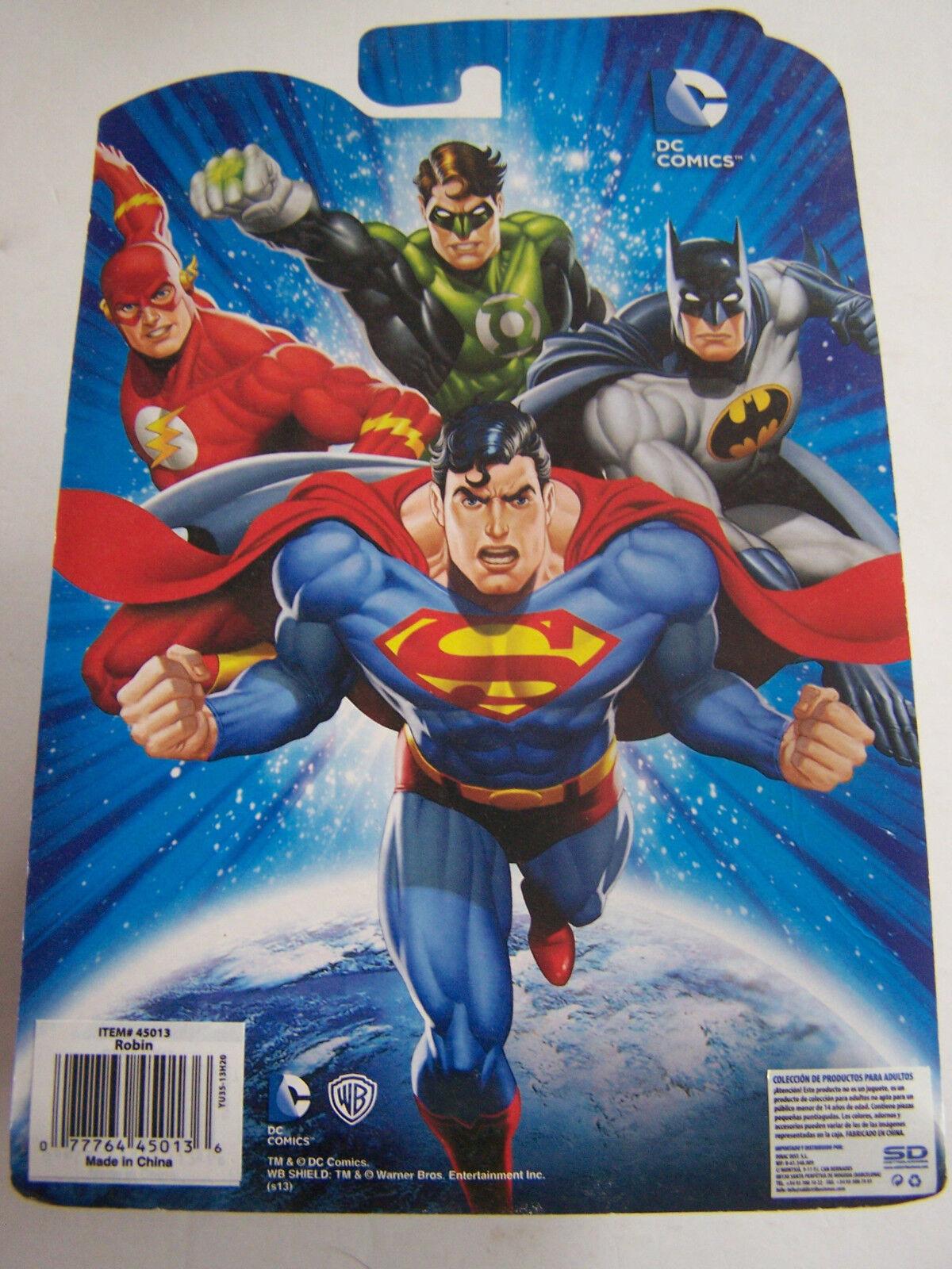 DC COMICS FIGURINE WB WB WB SHIELD WARNER BROS  ROBIN  SOUS BLISTER . NEUF . fda189