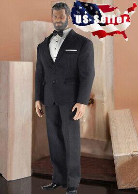 1//6 Hommes Noir Classique Business Costume pour musculaire Figure TBL PHICEN M34 M35 ❶ USA ❶