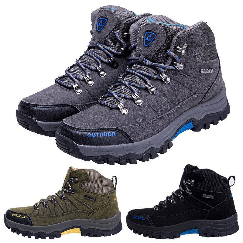 Men Hiking Boots Waterproof High Top Walking Non Slip Soft Shell climbing boots