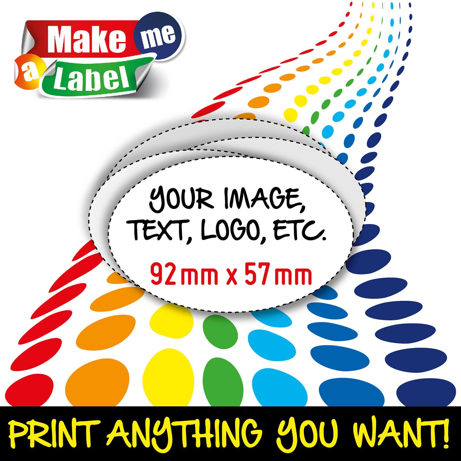 Oval Self Adhesive & Custom Printed Full Colour Sticky