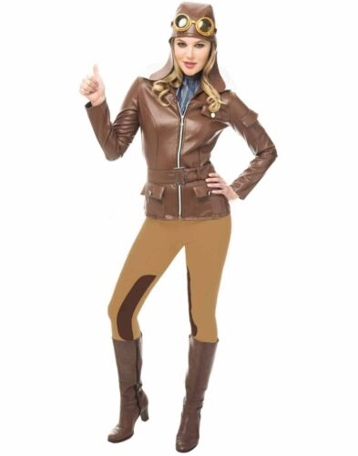 Lady Lindy Adult Womens Amelia Earhart Pilot Halloween Costume