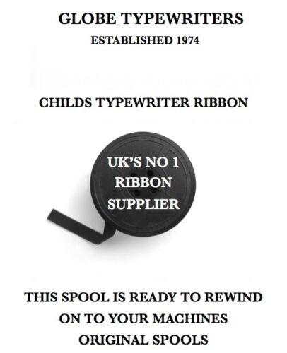 """6.5mm//1//4/"""" *CHILDS PETITE SUPER TOUCH 80* TYPEWRITER RIBBON REWIND+INSTRUCTIONS"""