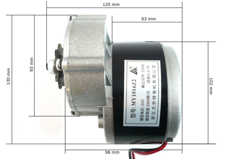 Hmparts E- Scooter Motore Motore Motore Elettrico Rc 24v 250w - My 1016z2 181192