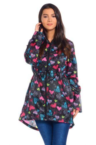 Womens Ladies Girls Rain Mac Raincoat Fishtail Kagool Parka Festival Jacket Coat