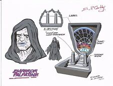 STAR WARS Emperor Palpatine+Throne Micro Machines PlaySet Color Guide E McCarthy