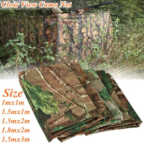 Clear View Camo Army Net Hide Netting Pigeon Cover Hunting Shooting Woodland USA