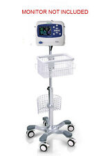 Rolling Stand For Welch Allyn Propaq Lt Patient Monitor Big Wheel New In Usa