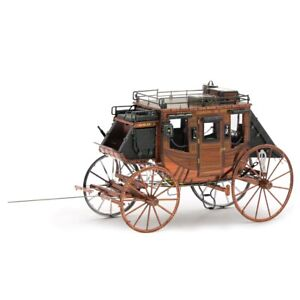 Fascinations-Metal-Earth-Wild-West-Stagecoach-3D-Steel-Puzzle-Model-Kit-MMS189