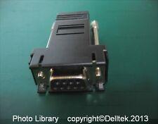 Cisco 74-0495-01 RJ45 / DB9F RS-232 Modular Adapter  2 Year Warranty Black