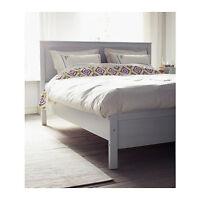 Duvet Full Queen Quilt Cover 2 Pillowcases Ikea BIRGIT LANTLIG White Multicolor