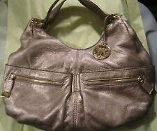 Michael Kors Layton Large Shoulder Gold Mettalic Handbag w/gold hardware