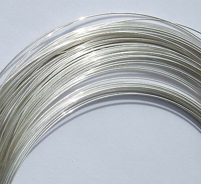 6 Feet Sterling Silver 925, Soft Round Wire 0.5,0.6,0.7,0.8,0.9, and 1mm.