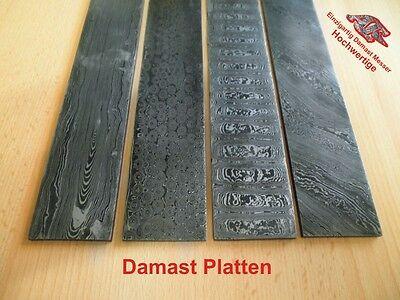 Damastmesser, Damaszener stahl, Damaststahl Platte, Damascus.Rabat Breite ca.5cm