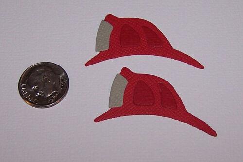 Scrapbook /& Card Making 6 Fire Hats Premade PAPER Die Cuts
