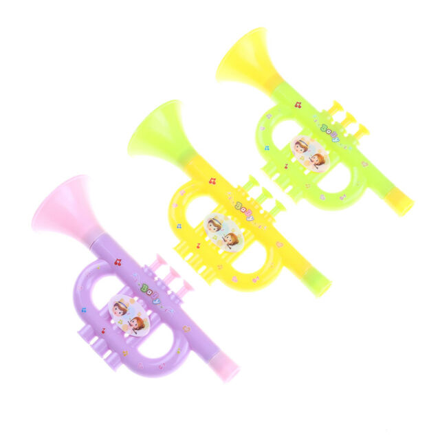 Baby Colorful Plastic Trumpet Hooter TOY Kids Musical Instrument EducationToyE9C
