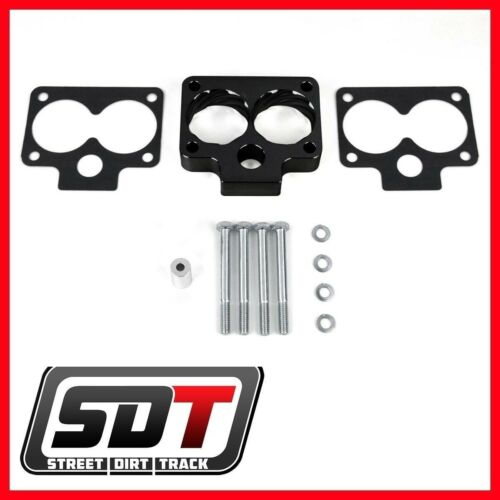 1993-1998 Jeep Grand Cherokee ZJ Throttle Body Spacer Kit 52mm 2WD 4WD Black