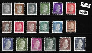MNH-Adolph-Hitler-stamp-set-WWII-Third-Reich-Occupation-Ostland-Overprints