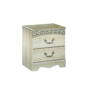Signature Design by Ashley B196-92 Catalina Two Drawer Night Stand Antique White