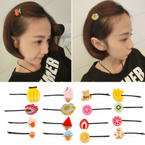 5PCS Lovely Fruit and Vegetable Design Hairpin Hair Clip Accessory For Women Kid