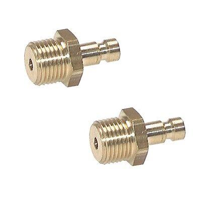 Kupplungsstecker NW 2,7 (Außengewinde), Messing, Kupplungsdose, Stecker Kupplung