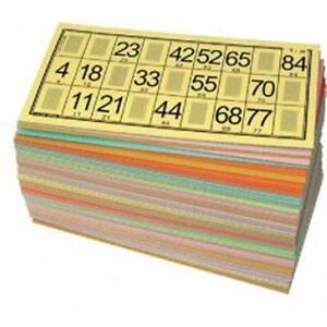 125 Cartons Loto Vert Rigide Tradition Lotoquine Le Plus Utilisé Par Les Associ