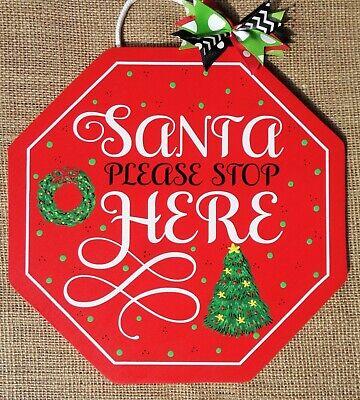 "Christmas Hanging Sign /""Feliz Navidad/"" 4/"" x 4/"" Metal Holiday Wall Decoration"
