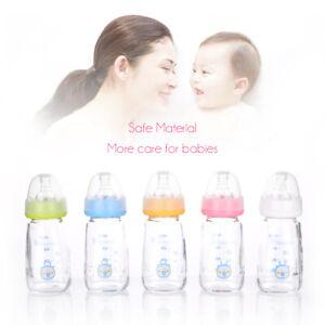 5 Color Bottle Baby Anti-bloating Newborn Glass Bottle 120ml Milk Bottle Feeding