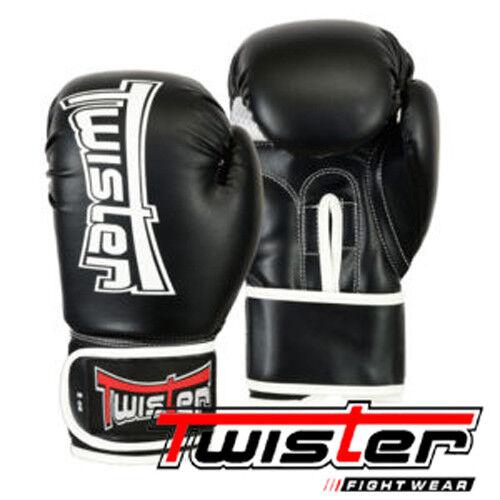 White 8oz to12oz For Training Twister Boxing Gloves MMA //Mauy Thai  Black