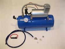 120PSI 12 Volt Air Compressor & 1.5 Gallon Tank For Air Horns & Bag System ++