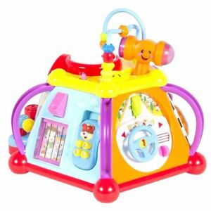 Educational-Baby-Toddler-Toy-Musical-Activity-Cube-Play-Centre-with-Lights-Fun
