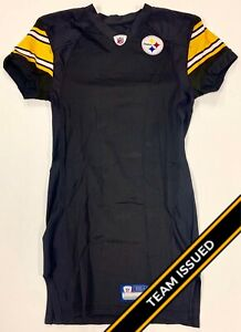 size 40 53e9b bbab4 Details about Pittsburgh Steelers Team Issued Reebok Home Jersey Uniform  Back Stock