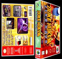 Duke Nukem Zero Hour - N64 Reproduction Art Case/box No Game.