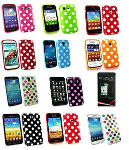 Polka-Dot-Silicone-Etui-Gel-Pour-Divers-Samsung-Modeles-amp-Noir-Mini-Stylet