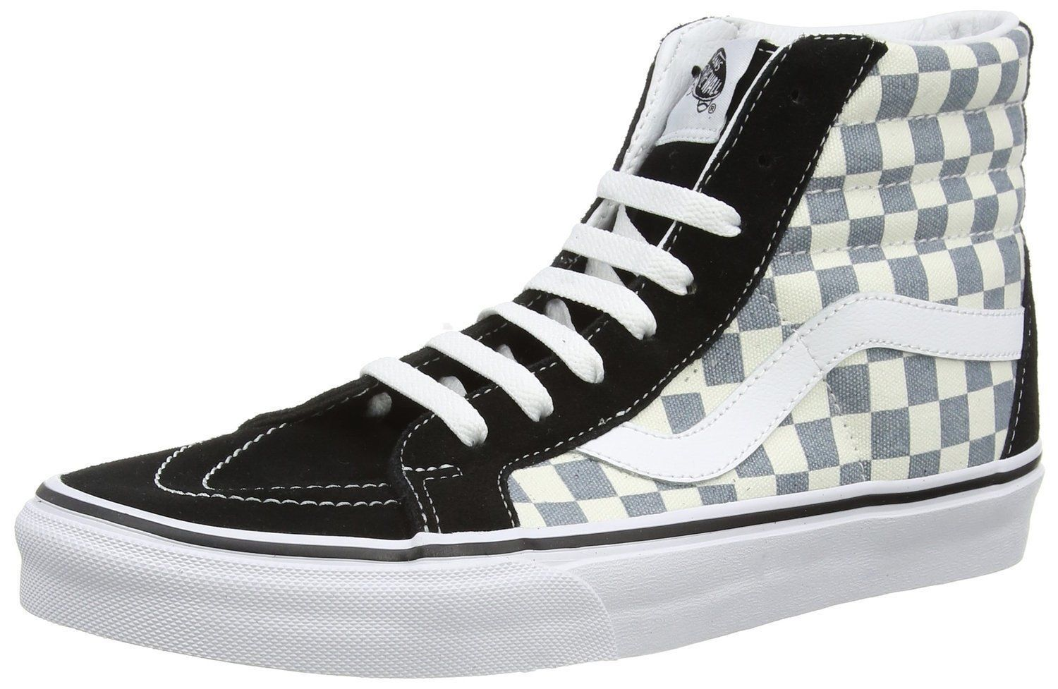 VANS SK8-HI REISSUE CHECKERBOARD MEN SHOES VN0003CAIB7 BLACK/CITADEL VN0003CAIB7 SHOES SIZE 12 NU 739b14