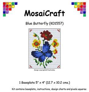 Détails Sur Mosaicraft Pixel Craft Art Mosaïque Kit Papillon Bleu Pixelhobby Afficher Le Titre Dorigine