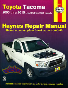 shop manual tacoma service repair toyota haynes book pickup truck rh ebay com 2014 tacoma service manual 2012 tacoma service manual pdf