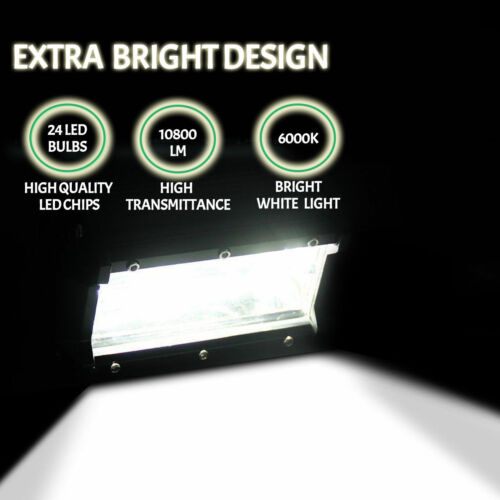 """2//4 x 5/"""" Inch 72W 10800LM LED Work Light Car Spot Flood Bar Fog Lamp Jeep SUV CH"""