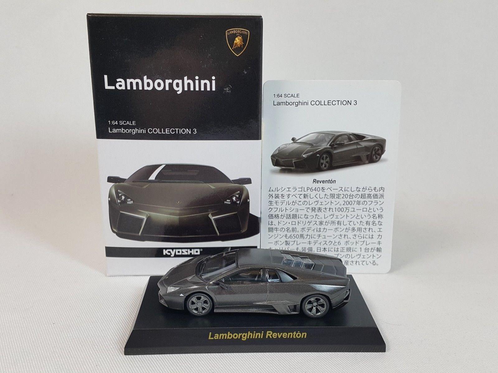 1 64 Kyosho Lamborghini Minicar Collection 3 Reventon Reventón 2007-2009 M.Grey