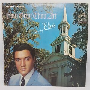 Elvis Presley How Great Thou Art LSP-3758 STEREO (1967) VG+ / VG