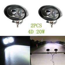 2PCS 4D Optic Cubic 20W CREE Dually LED Pod Lights For Truck Jeep ATV 4WD 4x4 S9