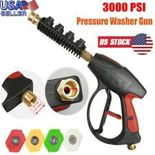 3000psi High Pressure Washer Lance Spray Wand Power Gun M22 14 With4 Nozzles Hu