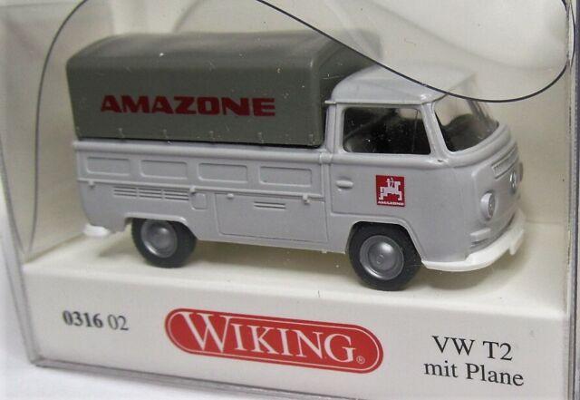 Wiking 1:87 VW T2 Pritsche mit Plane EK OVP 0316 02 Amazone
