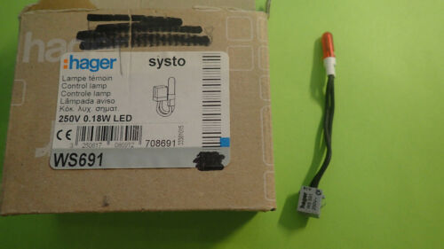 HAGER WS691 Lampe ou Voyant TEMOIN SYSTO ESSENCYA 230V coloris ROUGE