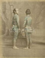 Tattooed Japanese Men Samurai Felice A Beato 1870 Japan 6x5 Inch Reprint Photo