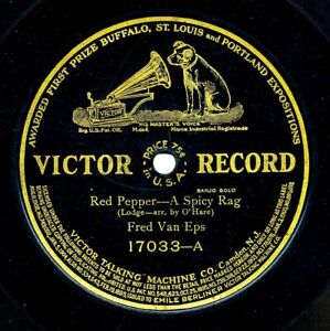 Fred Van Eps (Banjo) on 1912 Victor 17033 - Red Pepper - A Spicy Rag
