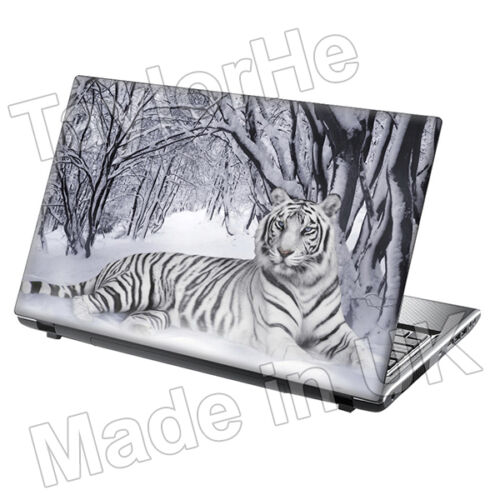 "TaylorHe 17/"" Laptop Skin Sticker Decal Tiger in Snow Wild Animal in Nature"